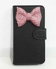 Diamond Crystal Bowknot Flip Leather Card slot Wallet Cover Case for Nokia phone