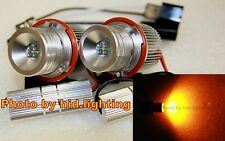 BMW CREE 40W 20W LED Angel Eye Halo ring Light E39 E60 E61 E63 E87 amber yellow