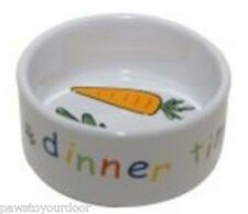 Mason cash rabbit guinea pig dinner time bowl. dish ceramic water or food