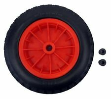 "PU 16"" Puncture Proof RED Wheelbarrow 35 BORE Tyre 4.80 - 8 BARROW WHEEL"