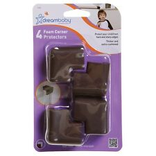 Dreambaby Soft Foam Corner Cushions Baby Child Safety - 4PK - Brown