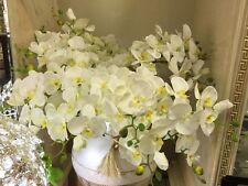 LUXURY LONG SET OF 3 STEMS OF ORCHID FLOWERS NEW