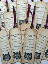 Alice in Wonderland personalised bookmark