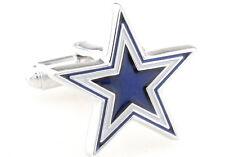 Dallas Cowboys NFL Star Logo Mens Cufflinks