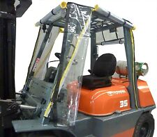 New Heavy Duty Universal Standard Size Forklift Cab Enclosure Cover Clear Vinyl