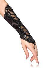 Neu Stulpen Handschuhe Spitze Hochzeit Karneval Braut Perlen Spitzenhandschuhe
