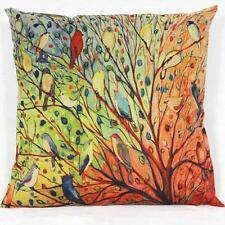Flower Floral Cotton Sofa Pillowcase Pillow cover Cushion Cover Multicolor 1