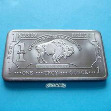 1 oz Niobbarren Büffel (Buffalo Niob Barren Niobium Anlage Unze Unzen) NEU+RAR !