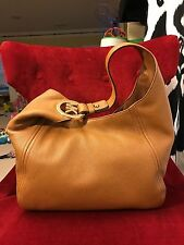 NWT MICHAEL KORS LEATHER FULTON LARGE SLOUCHY SHOULDER HOBO BAG IN ACORN