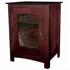 Crosley Wood Entertainment Center Record Player Turntable Cabinet Stand Cherry