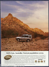 1997 LAND ROVER DISCOVERY advertisement, Hell's Gate Australia