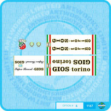 Gios Torino Super Record Bicycle Decals - Transfers - Stickers - Set 6