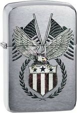 Zippo 29093 us flag-eagle 1941 replica brushed chrome Lighter