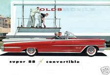 1959 Oldsmobile SUPER 88 Convertible, Red/White, Refrigerator Magnet, 40 Mil