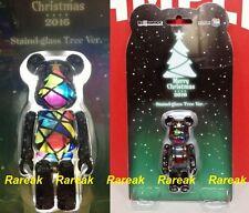 Medicom Be@rbrick 2016 Merry Christmas 100% Stained Glass Xmas Tree Bearbrick