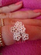 Spinning Jewellery 925 Sterling Silver Snow Flake Ring Large UK P 1/2 EU 57