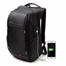 "KINGSONS 15.6"" POWER SERIES 'SMART' LAPTOP BAG BACKPACK WITH USB CABLE"