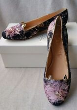 NEW Charlotte Olympia Kitty 38.5 8 Cat Ballerina Ballet Flats Galaxy Print Shoes