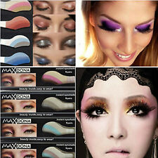 6pcs Eyeshadow Instant Eye MakeUp Temporary Tattoo Transfer Sticker Shade Random