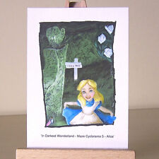 Alice in Wonderland curtsey ACEO art card of WDCC drawing ~ lost in a maze