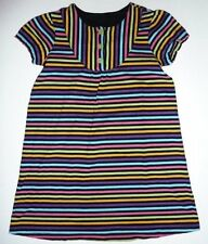 130 7 8 HANNA ANDERSSON GIRLS RAINBOW STRIPED SS SPRING SUMMER TUNIC DRESS EC+