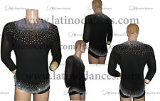 LATIN SALSA DANCE COMPETITION BODY'MEN WITH HIGH QUALITY RHINESTONE  DB100