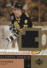 02-03 UD Foundations Ray Bourque /150 Jersey Classic Greats 2002 Bruins