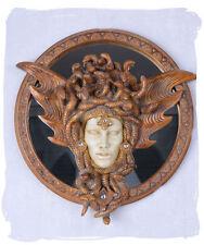 Jugendstil Spiegel Wandspiegel Medusa Art Nouveau Wandskulptur Schlangenkrone