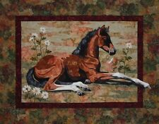 Lazy Days Toni Whitney Horse Foal Fusible Applique Quilt Pattern