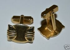 WOW Nice Vintage Unique ANSON Bowtie Golden Men's Brass Cuff Links Rare