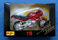 BMW RS MOTORCYCLE 1:18 DIECAST SPECIAL EDITION MAISTO BURGUNDY RED