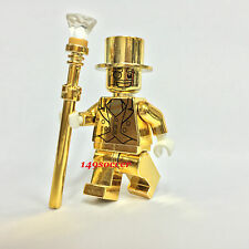 "Series 10 """"CustomDIY"""" Lego Mr Gold Mini Figures Mr.Gold Super Hero Minifigures"
