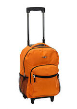 Backpack Rolling Rockland School Bag Carry On 17 in Bookbag Orange Roadster