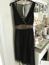 Gorgeous Principles Size 14 Black chiffon Dress for wedding/evening