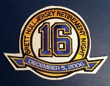1 RARE 2006 ST.LOUIS BLUES BRETT HULL NO.16 RETIREMENT JERSEY PATCH CREST NHL