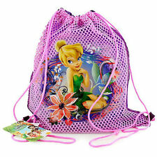 LOT 6 DISNEY TINKERBELL Kids Sling Bag Tote Net Backpack BIRTHDAY PARTY FAVORS