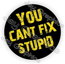 You Can't Fix Stupid Hard Hat Sticker | Decal Funny Label Helmet Construction
