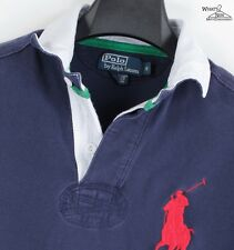 Polo Ralph Lauren Blue Big Pony Detailed Mesh Polo Shirt Sz. S *Nice*