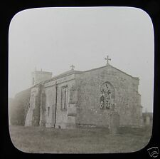 Glass Magic Lantern Slide BOROUGHBRIDGE NO9 C1900 CHAPEL YORKSHIRE