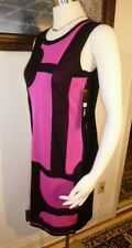 "NWT Misook Acrylic Black and Pink Short ""Fiona""  Dress Size S"