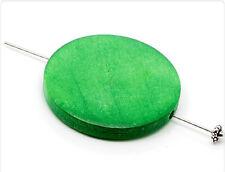 10x Holzperlen Scheiben 30mm grün wb170