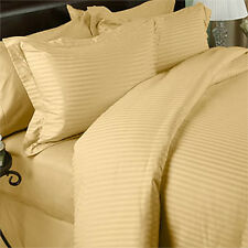1200 Thread Count 100% Egyptian Cotton Bed Sheet Set OLYMPIC QUEEN  Gold Stripe