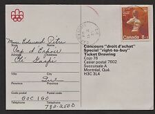 "1976 Montreal Olympics ""right-to-buy"" ticket drawing, postal ballot. Opening & E"