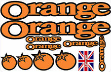 orange mountain bike frame stickers decals ALL COLOURS AVAILABLE