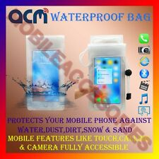 ACM-WATERPROOF BAG RAIN COVER CASE for ZTE BLADE QLUX 4G MOBILE WATER RESISTANT