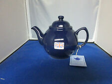 Genuine Cobalt Betty 4 Cup Tea Pot, MADE IN ENGLAND, Red clay Rockingham Glaze.