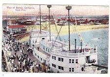 VIEW FROM PIER--VENICE CALIFORNIA-1908 POSTCARD
