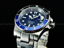 Legend Mens BATMAN 200m Submariner Deep Blue Auto Sapphitek Black Dial SS Watch