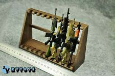 """1/6 scale Wooden Weapon Guns Rifle Rack Display fit 12"""" figure Size B Lower"""