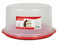 RUBBERMAID ROUND CAKE KEEPER SAVER FOOD STORAGE CONTAINER NEW RED 1777191 RED